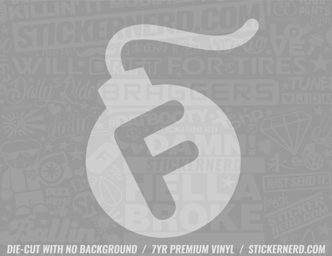 F Bomb Sticker - Window Decal - STICKERNERD.COM