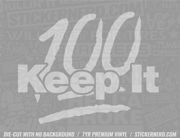 Keep It 100 Emoji Sticker - Window Decal - STICKERNERD.COM