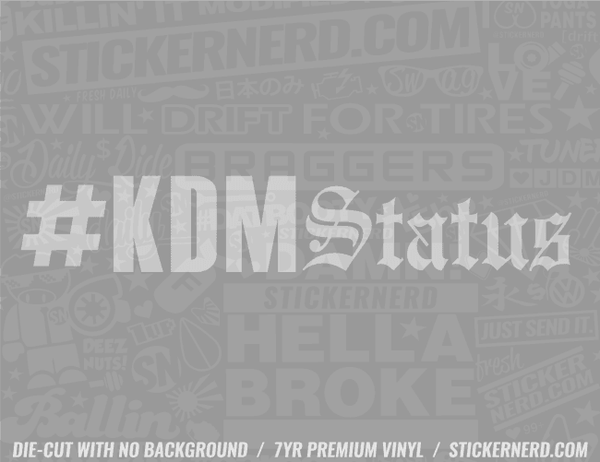KDM Status Sticker - Window Decal - STICKERNERD.COM