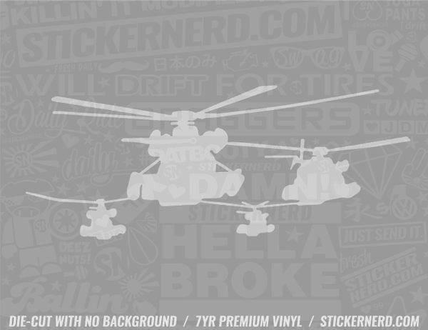 Helicopter Sticker - Window Decal - STICKERNERD.COM