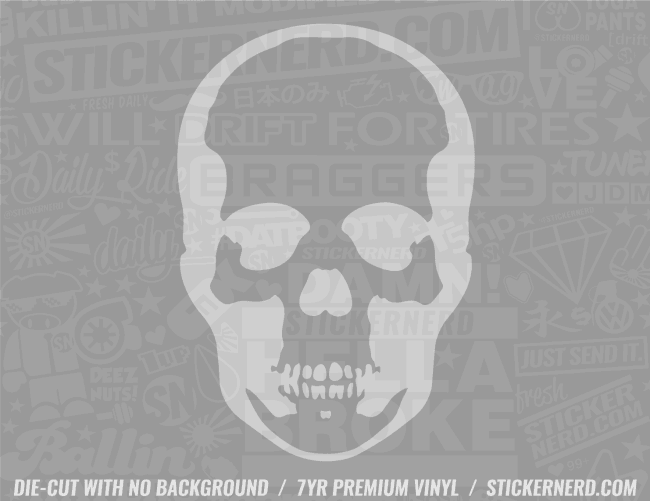 Skull Sticker - Window Decal - STICKERNERD.COM