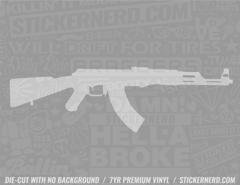 Machine Gun Sticker #2249 - STICKERNERD.COM