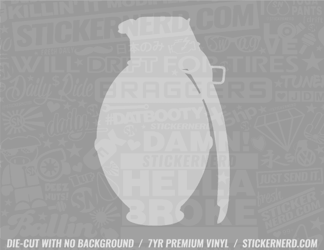 Grenade Sticker - Window Decal - STICKERNERD.COM
