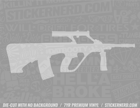 Machine Gun Sticker