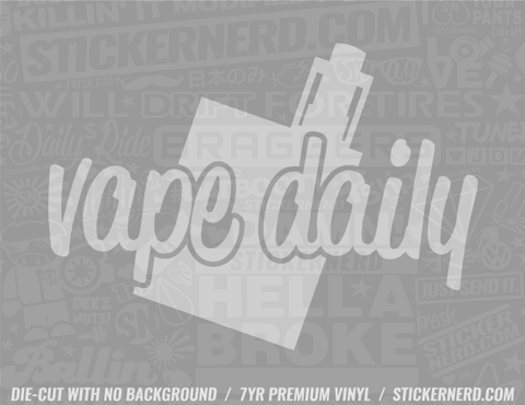 Vape Daily Sticker