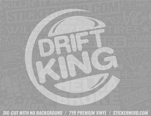 Drift King Sticker - Window Decal - STICKERNERD.COM