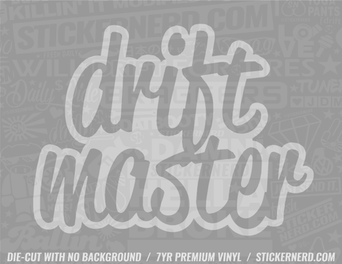Drift Master Sticker