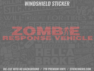 Zombie Response Vehicle Windshield Sticker