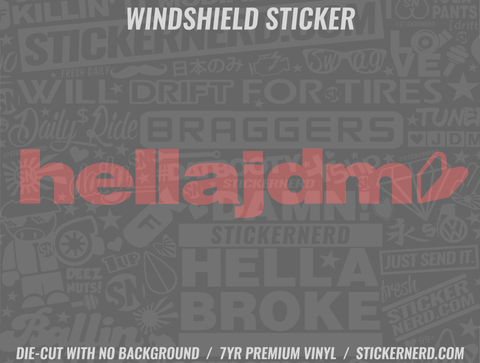Hella JDM Windshield Sticker