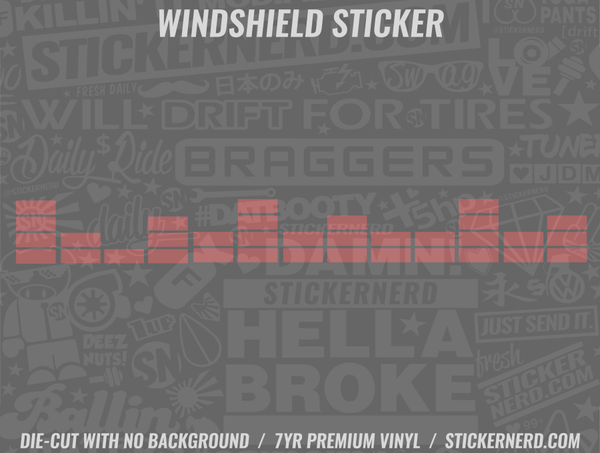 Sound Bar Windshield Sticker - Window Decal - STICKERNERD.COM