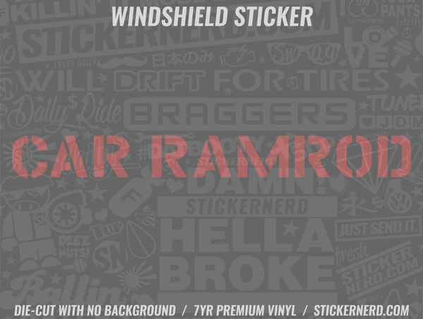 Car Ramrod Windshield Sticker - Window Decal - STICKERNERD.COM