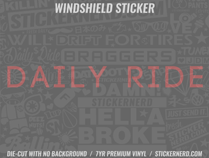 Daily Ride Windshield Sticker - Window Decal - STICKERNERD.COM