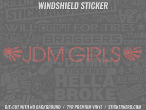 Heart JDM Girls Windshield Sticker - Window Decal - STICKERNERD.COM