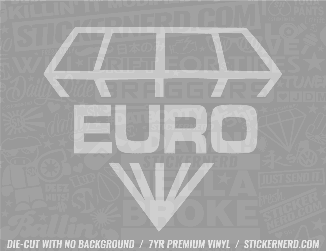 Euro Diamond Sticker
