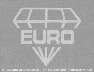Euro Diamond Sticker - Window Decal - STICKERNERD.COM