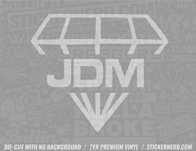 JDM Diamond Sticker - Window Decal - STICKERNERD.COM