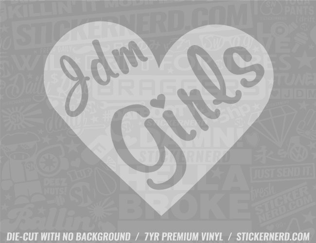 JDM Girl Sticker