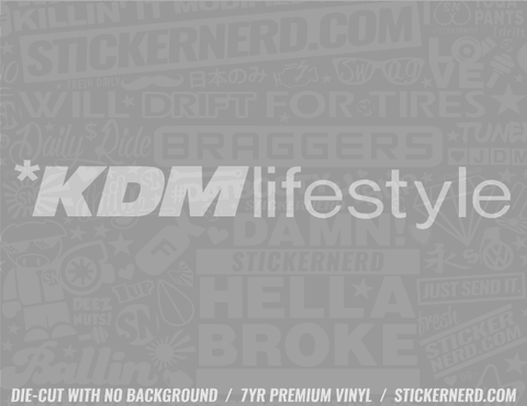 KDM Lifestyle Sticker - Window Decal - STICKERNERD.COM