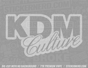 KDM Culture Sticker - Window Decal - STICKERNERD.COM