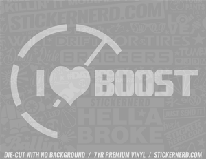 I Heart Boost Sticker