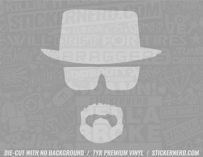 Heisenberg Sticker - Window Decal - STICKERNERD.COM