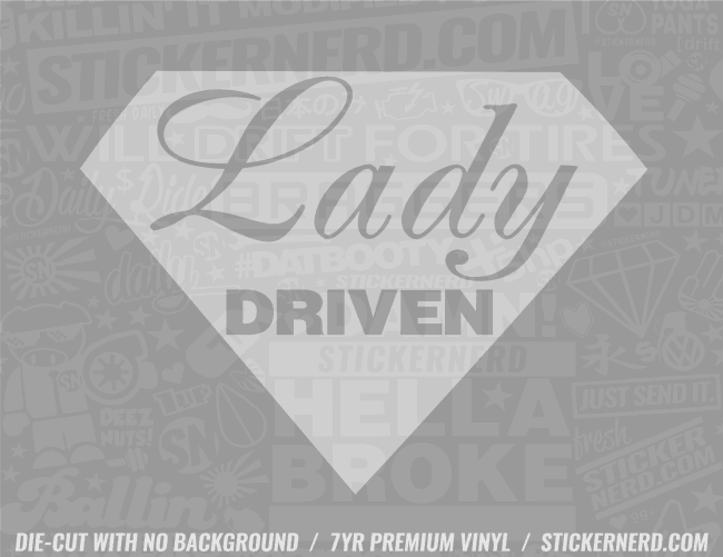 Lady Driven Diamond Sticker