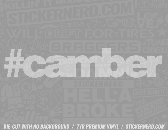 Camber Sticker - Window Decal - STICKERNERD.COM