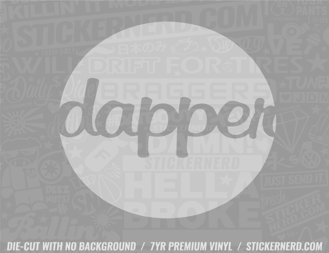 Dapper Circle Sticker - Window Decal - STICKERNERD.COM
