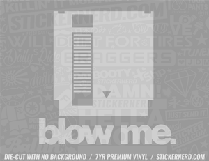 Blow Me Video Game Sticker - Window Decal - STICKERNERD.COM