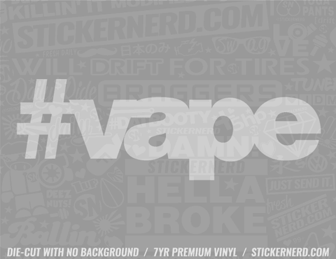 Vape Sticker