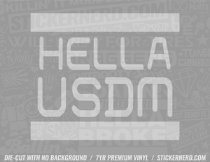 Hella USDM Sticker - Window Decal - STICKERNERD.COM