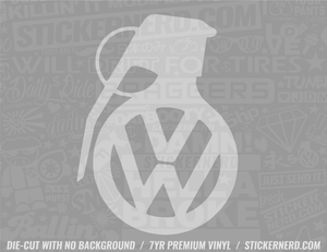 VW Euro Grenade Sticker - Window Decal - STICKERNERD.COM