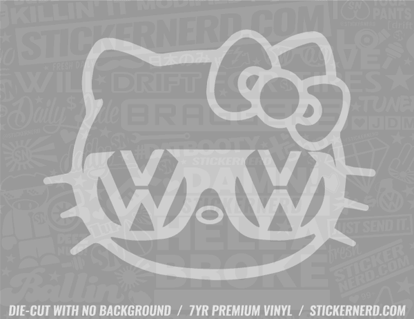 Girl Kitty Sticker - Window Decal - STICKERNERD.COM