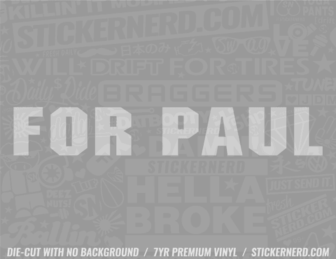 Four Paul Sticker