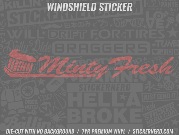 Minty Fresh Windshield Sticker - Window Decal - STICKERNERD.COM