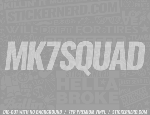 Mk7 Squad Sticker - Window Decal - STICKERNERD.COM