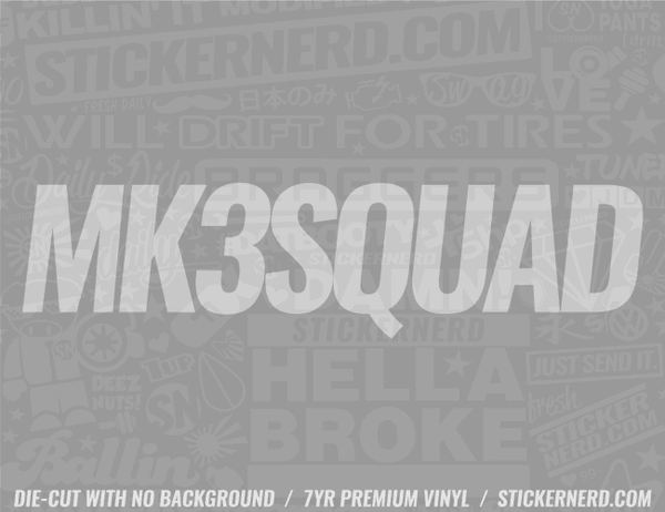 Mk3 Squad Sticker - Window Decal - STICKERNERD.COM