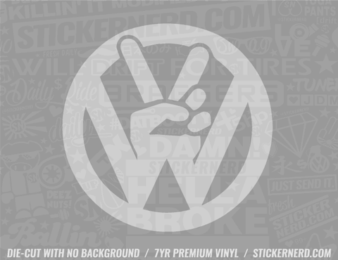 VW Peace Sign Sticker - Window Decal - STICKERNERD.COM