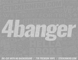 4 Banger Sticker - Window Decal - STICKERNERD.COM