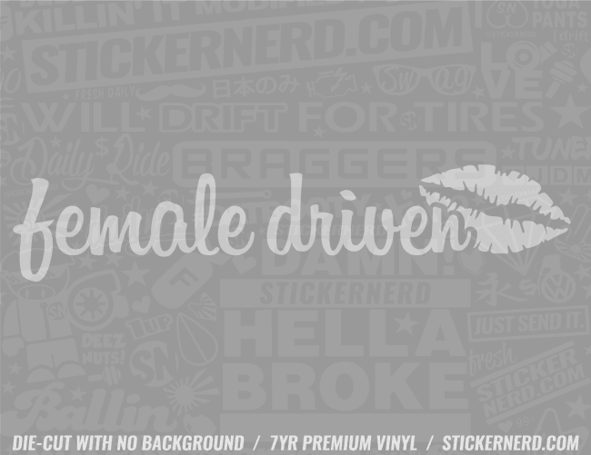 Female Driver Sticker