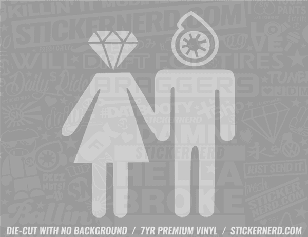 Diamond and Turbo Sticker - Window Decal - STICKERNERD.COM