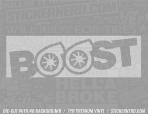 Boost Slap Style Sticker