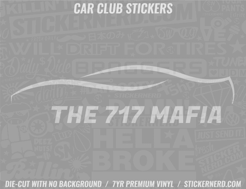 The 717 Mafia Sticker - Window Decal - STICKERNERD.COM