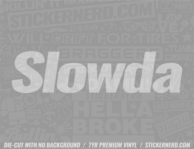 Slowda Honda Sticker - Window Decal - STICKERNERD.COM
