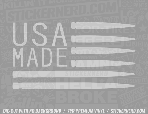 Made In USA Bullets Sticker - Window Decal - STICKERNERD.COM