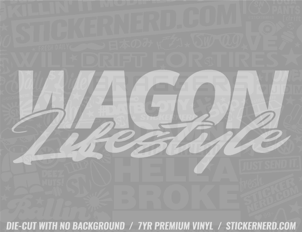 Wagon Lifestyle Sticker - Window Decal - STICKERNERD.COM