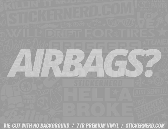 Airbags Sticker - Window Decal - STICKERNERD.COM