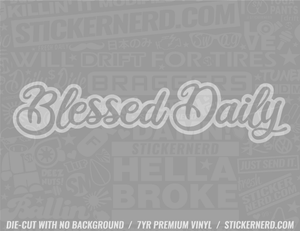 Blessed Daily Sticker