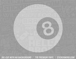 Eight Ball Sticker - Window Decal - STICKERNERD.COM