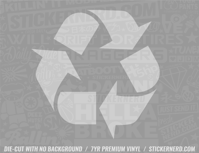 Recycle Logo Sticker - Window Decal - STICKERNERD.COM